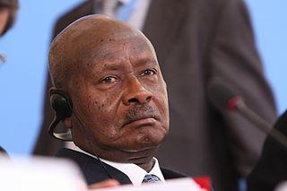 Yoweri Museveni, president of Uganda since 1986
