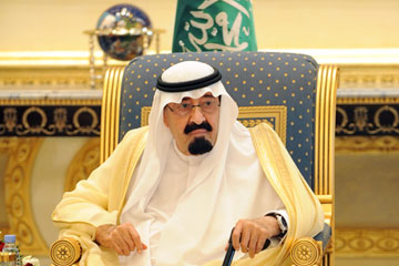 "Saudi King Abdullah bin Abdul Aziz whose decrees equate atheism with ""terrorism"" and ban criticism of the state"