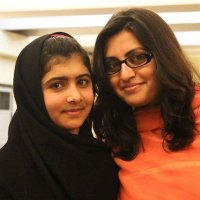 Gulalai Ismail (right) with Malala Yousafzai (left) who first met through Aware Girls