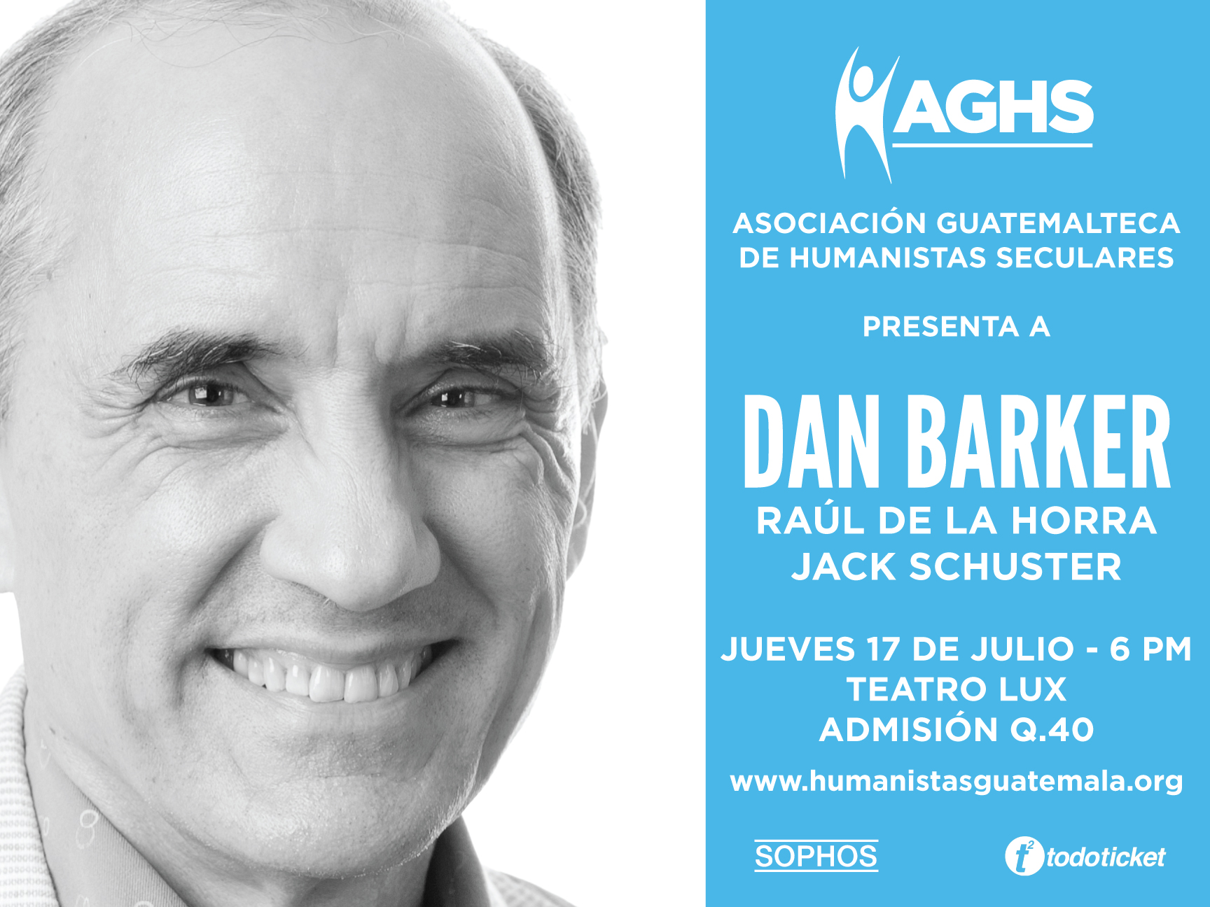 Guatemala Humanists launch event Dan Barker poster