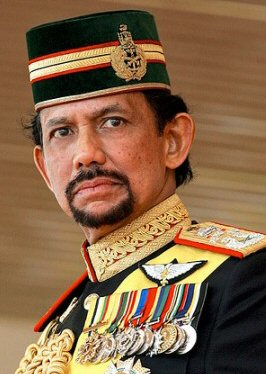 Sultan of Brunei and first prime minister, Hassanal Bolkiah, backed the harsh new penal code based on Sharia law