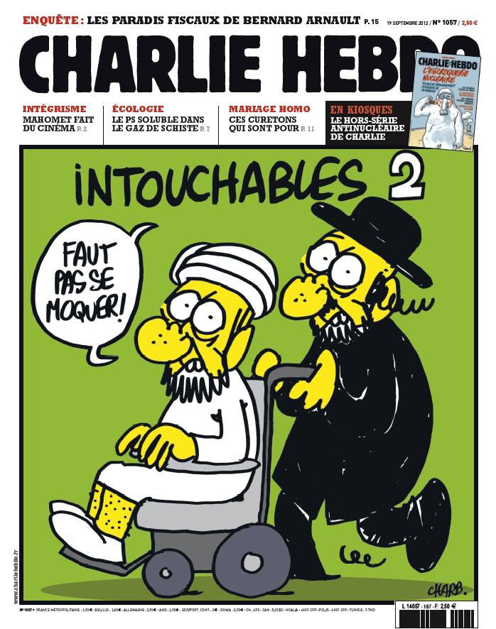 Charlie Hebdo's cover image from 19 September 2012