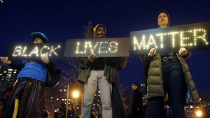 Protesters after the police killing of Eric Garner