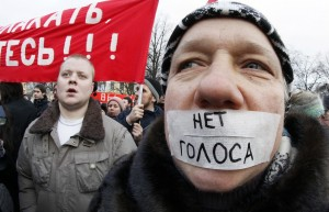 Pro-democracy Russian civil society protest