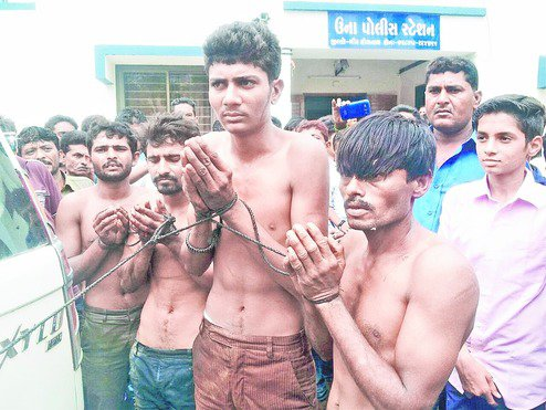Dalit men attacked and chained in Gujarat