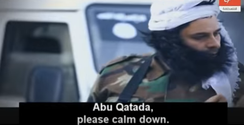 """Satirical film featuring a terrorist in a fake beard, getting into an argument with another terrorist and being told to """"calm down"""" by a captive"""
