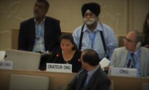 Swati Kamble speaking on behalf of the IHEU at the UN
