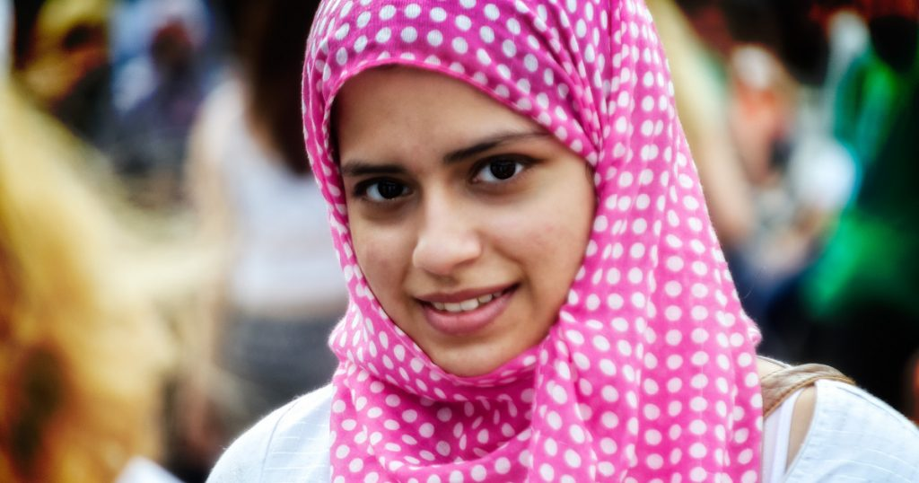Image of woman in headscarf