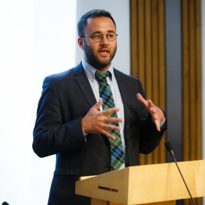 Humanists International CEO Gary McLelland speaking in The Scottish Parliament